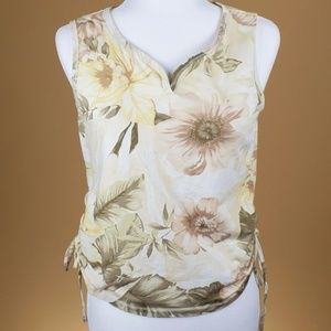 Caribbean Joe Floral Sleeveless Top